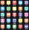 Set of social media buttons for design vector image
