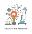 creativity and inspiration vector image
