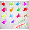 christmas stickers set vector image vector image
