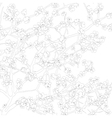 Floral background outline vector image
