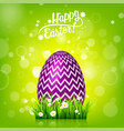 easter egg hunt green background april holidays vector image