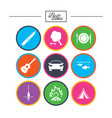 hike trip camping icons fishing tourist tent vector image
