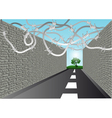 street with barbed wire vector image