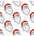 Cartoon Santa seamless pattern vector image vector image
