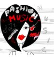 young fashion woman vector image