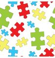 puzzles seamless pattern vector image vector image