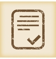 Grungy accepted icon vector image