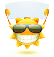 cartoon sun character vector image vector image