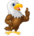 Strong and powerful eagle giving thumb up vector image