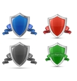 shields and ribbons vector image vector image