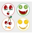 Fruit smiling faces vector image