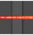 Three seamless carbon patterns vector image