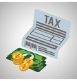 Tax design financial item icon Flat vector image