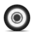 Black motorbike wheel vector image