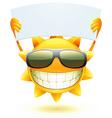 cartoon sun character vector image