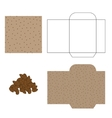 Flax seeds packaging design kit Recycled paper vector image