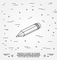 Isometric pencil on white background For web vector image