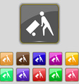 Loader icon sign Set with eleven colored buttons vector image