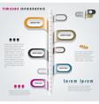 Modern timeline infographics design vector image