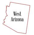 west arizona vector image