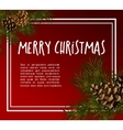 Christmas greeting-card with fir-tree vector image