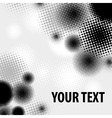 Halftone pattern on white vector image
