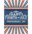 Fourth of july greeting card vector image