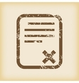 Grungy declined icon vector image