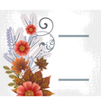 summer floral vector image vector image