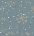 cute winter seamless pattern with snowflakes vector image
