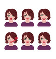 emoticon avatar girl vector image
