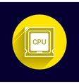 Icon of cpu microprocessor sign symbol process vector image