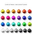 Realistic isolated Christmas balls vector image