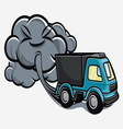 truck exhaust fumes vector image