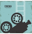 video camera movie film reel cinema icon vector image