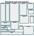Empty Box Standard size web banners set vector image