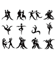collection of abstract dancers vector image vector image