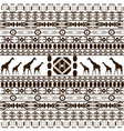 traditional African pattern vector image vector image