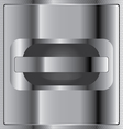 Opened with iron shine on steel honeycomb vector image