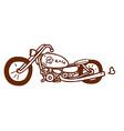 Hand Drawn Motorbike vector image