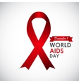 Red Ribon - Symbol of 21 December World AIDS Day vector image