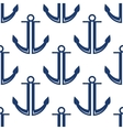 Retro marine blue anchors seamless pattern vector image