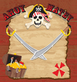 Pirate party invitation vector image vector image