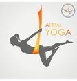 Flying yoga logo Aerial yoga for women vector image