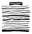 Brush strokes set vector image