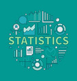 colorful statistics round vector image