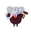 cute auction elephant cartoon character vector image