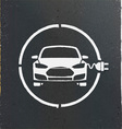 Electric Eco Car Charging Station Icon vector image