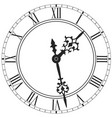 elegant clock face with roman numerals isolated vector image
