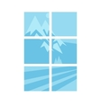 House window elements vector image
